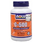 Witamina C-500 + Acerola 500mg 100 pastylek do ssania NOW FOODS
