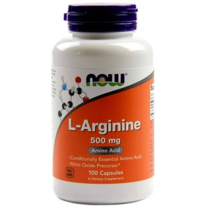 L-Arginina L-Arginine 500mg 100 kap. NOW FOODS