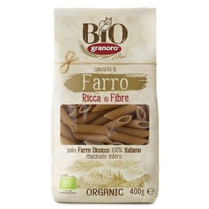 Makaron penne rigate orkiszowy BIO 400 g Granoro