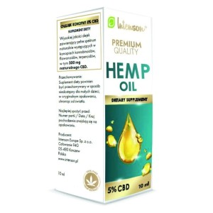 Olejek konopny Hemp Oil 500mg 5% CBD 10ml Intenson
