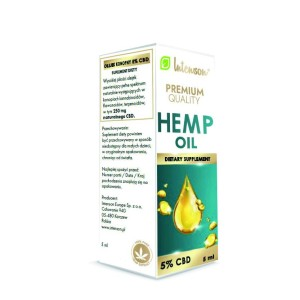 Olejek konopny Hemp Oil 250mg 5% CBD 5ml Intenson