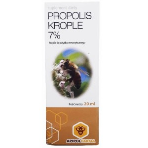 Propolis krople 7% 64mg 20ml Apipol Farma