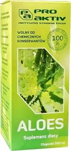 Aloes czysty sok z aloesu 100% 500ml Pro Aktiv