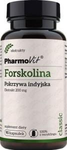 Forskolina Pokrzywa indyjska ekstrakt 200mg 90 kapsułek PharmoVit