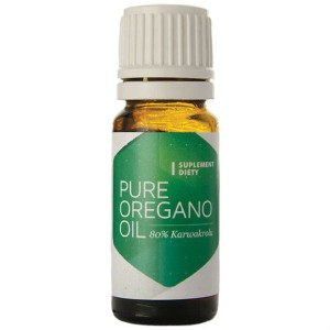 Olejek z oregano Pure oregano oil 80% Karwakrolu 10ml Hepatica