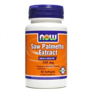 Palma sabałowa Saw Palmetto ekstrakt 160mg 60 kapsułek NOW FOODS
