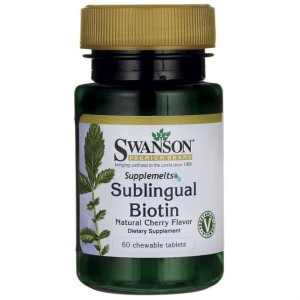 Biotyna 2500mcg Sublingual Biotin 60 tabletek do ssania SWANSON