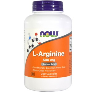 L-Arginina L-Arginine 500mg 250 kap. NOW FOODS