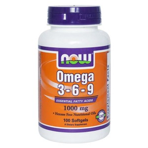 Omega 3 6 9 1000mg 100 kapsułek NOW FOODS
