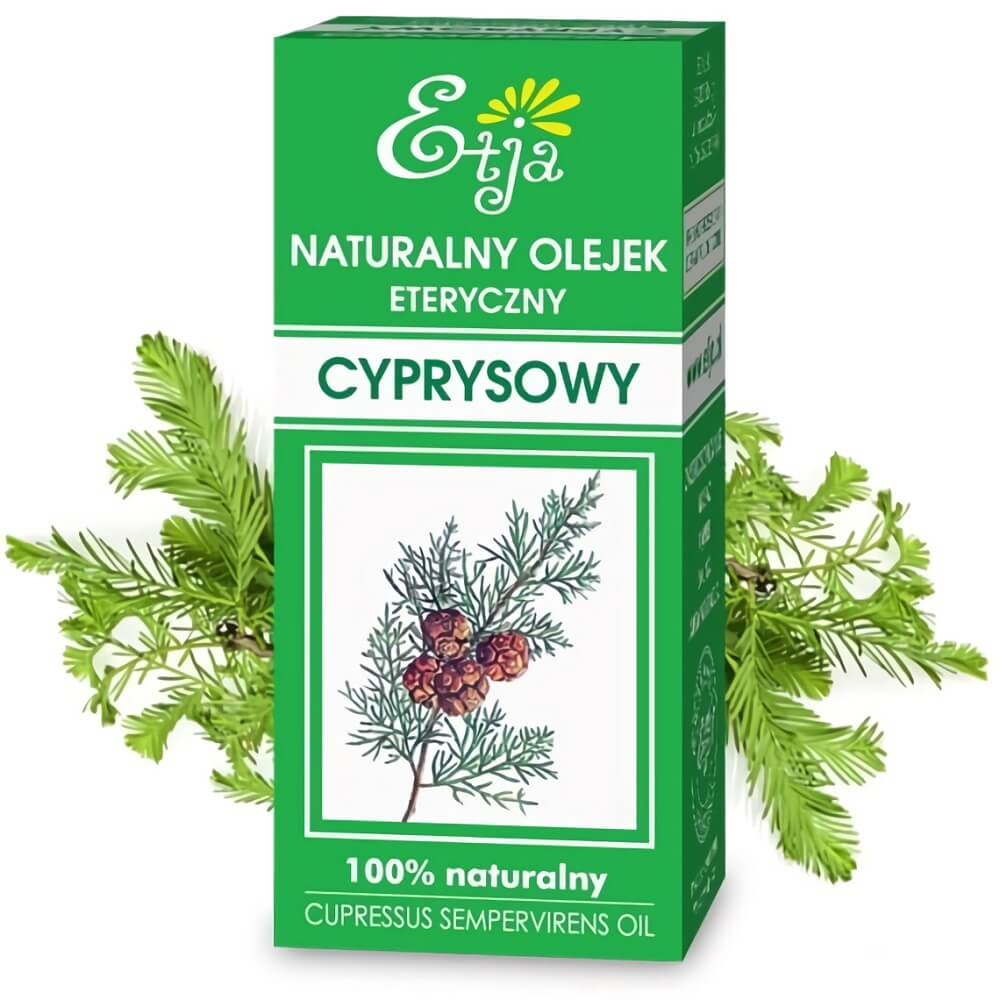 Olejek cyprysowy eteryczny 10 ml ETJA