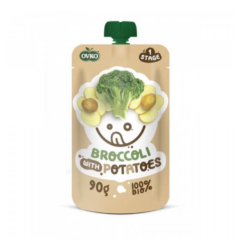 Danie brokuł ziemniak po 6 miesiącu życia BIO 90 g Ovko