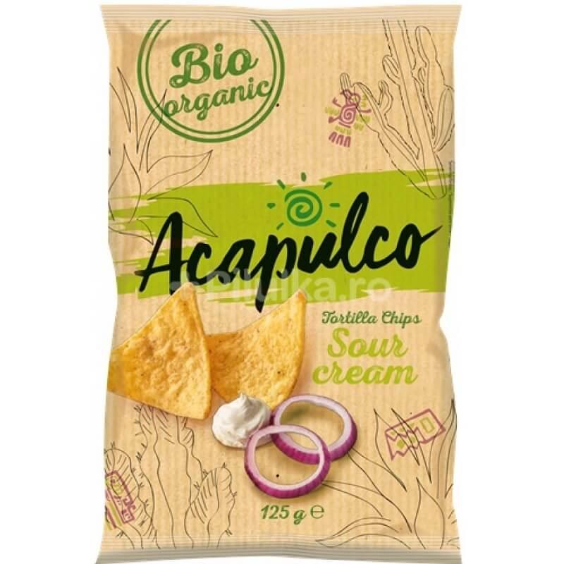 Nachosy o smaku śmietankowo-cebulowym BIO 125 g Acapulco