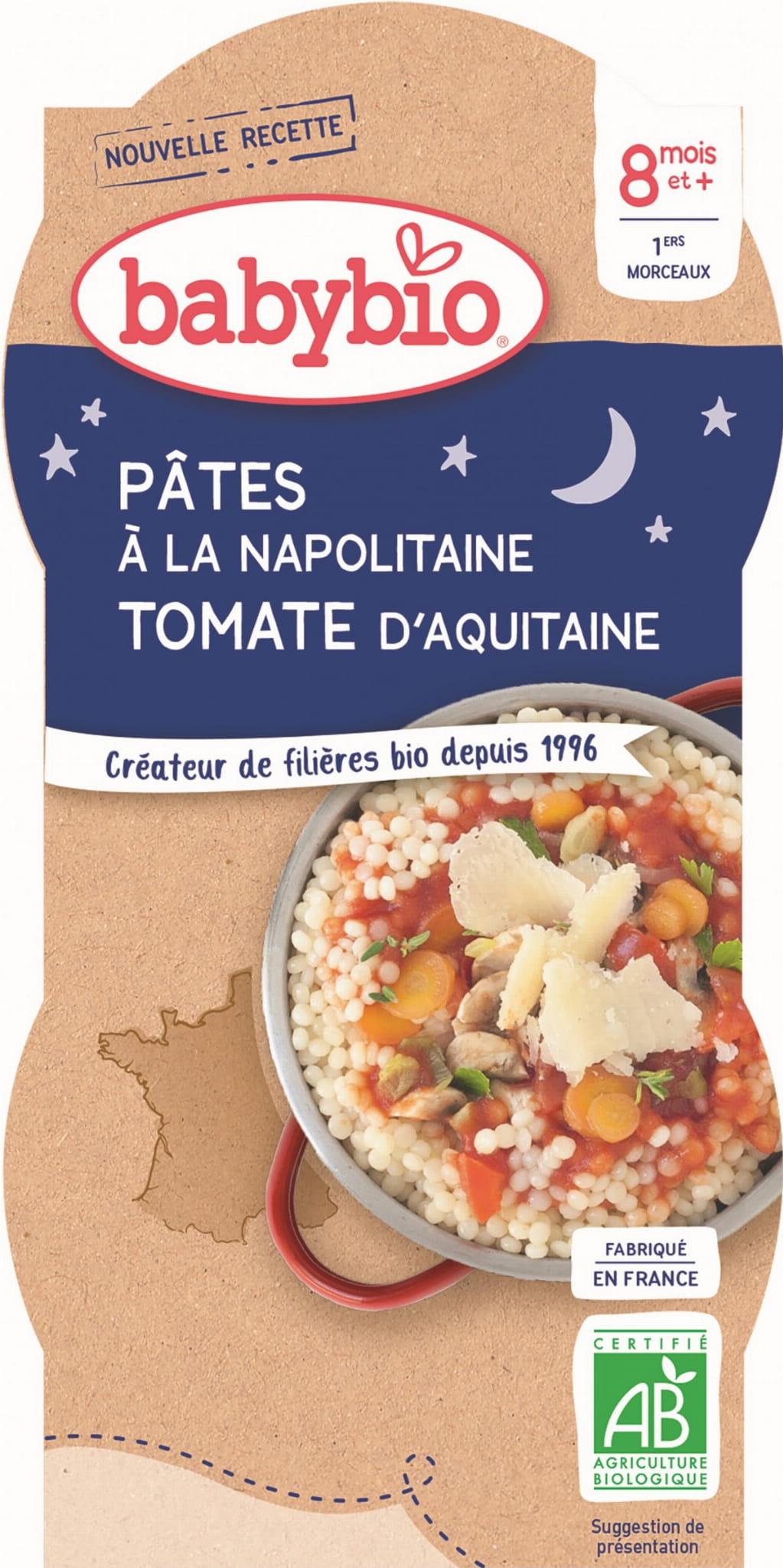 Danie makaron z pomidorami po neapolitańsku od 8 miesiąca BIO 2x200 g BABYBIO