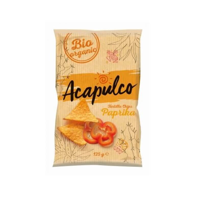 Nachosy o smaku paprykowym BIO 125 g Acapulco