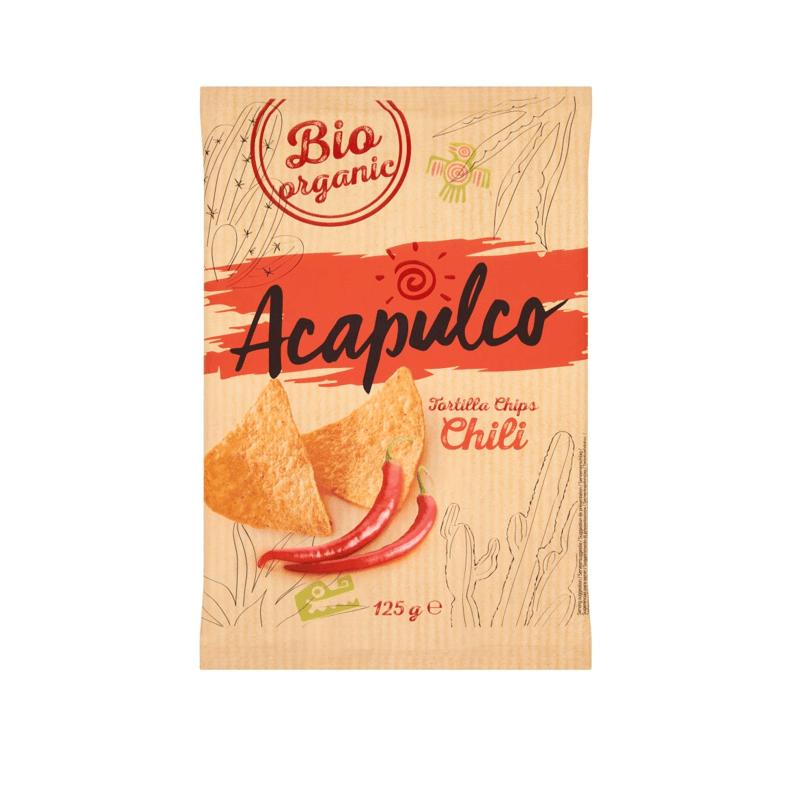 Nachosy o smaku chili BIO 125 g Acapulco