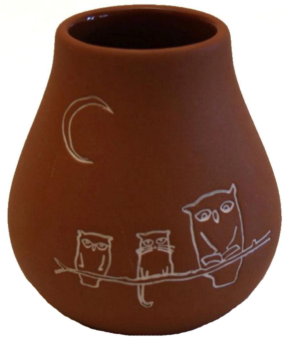 Matero gliniane fortaleza (naczynie do yerba mate) 330 ml - PIZCA DEL MUNDO